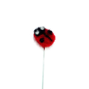 Brooch pins with hand felted ladybirds