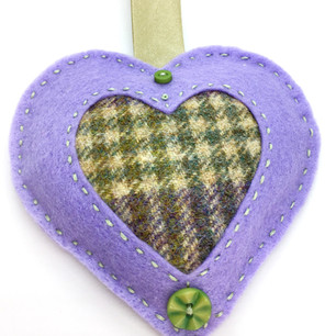 Felt & tweed lavender bag.