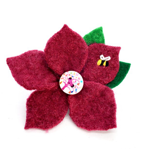 Upcycled felted wool made into magical little brooches, embellished with tiny embroidered bugs and critters!
