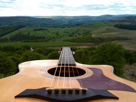 Guitar in the Peak District