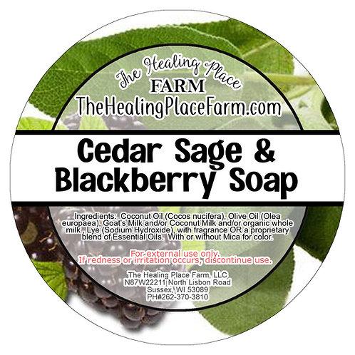 Cedar, Sage & Blackberry~ Goat's Milk Soap