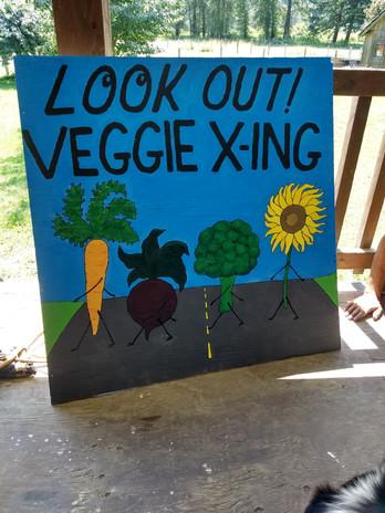 Nikki's Veggie X-ing Sign