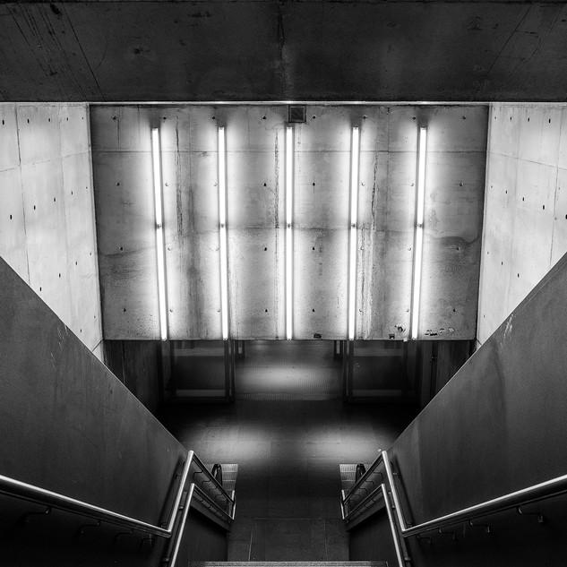 Architectuurfoto's in het station van Antwerpen