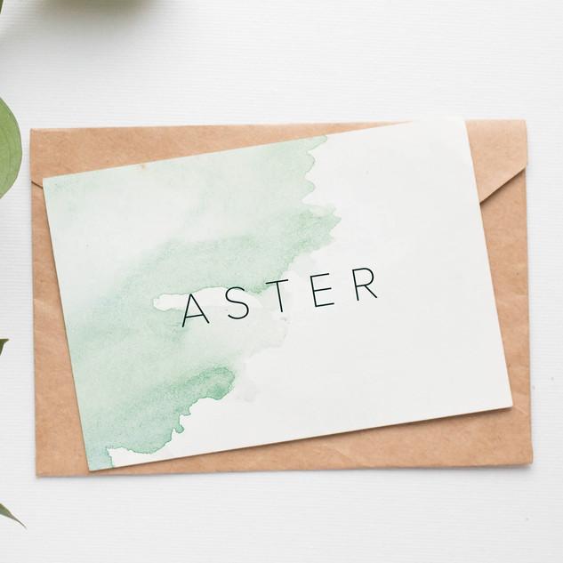 Zacht geboortekaartje voor Aster