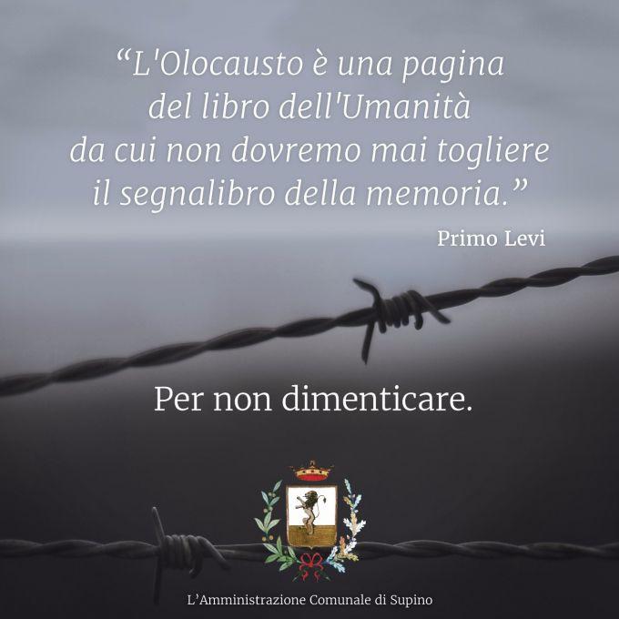 GIORNATA DELLA MEMORIA Commemorazione delle vittime dell' Olocausto