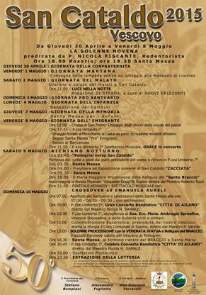 PROGRAMMA FESTEGGIAMENTI IN ONORE DI SAN CATALDO VESCOVO