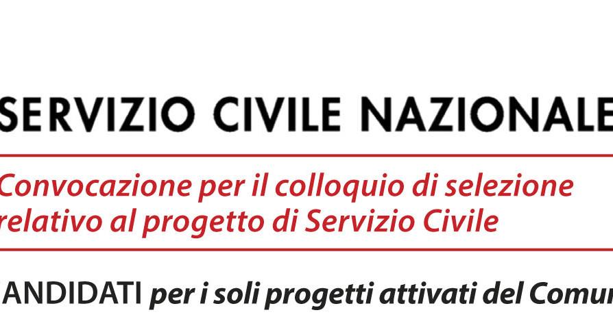 Avviso ai candidati progetto Servizio Civile