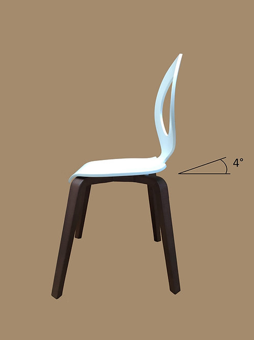 DOLCE MUSIC chair white-brown finish