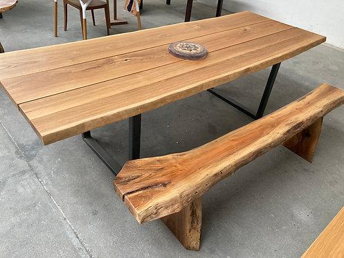 Tavolo in legno di rovere 255 x 90 cm