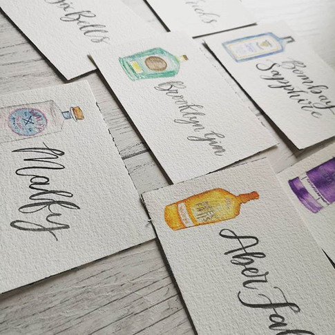 Some table names I did for a wedding a c