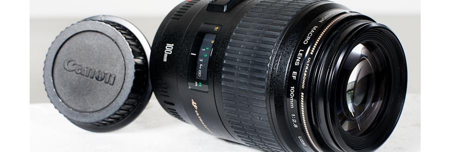 Objetivo Canon 100mm Macro f2.8 USM