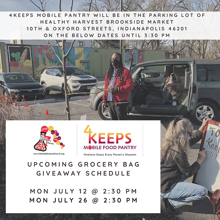 Upcoming 4KEEPS Mobile Pantry Schedule