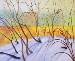 Winter Meets Spring at Marsh's Edge