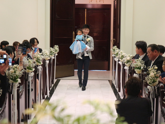 平成8年生まれの2人のお子様連れ結婚式(11/11花遊庭)