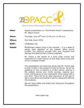 """Special presentation on """"The Mindful Parent"""""""