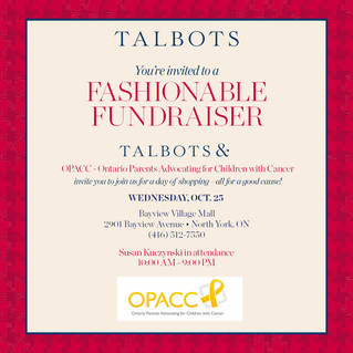 OPACC & Talbots partner for fundraiser