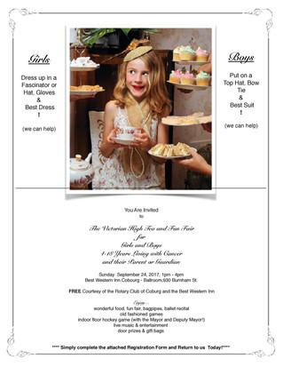 Victorian High Tea & Fun Fair Event