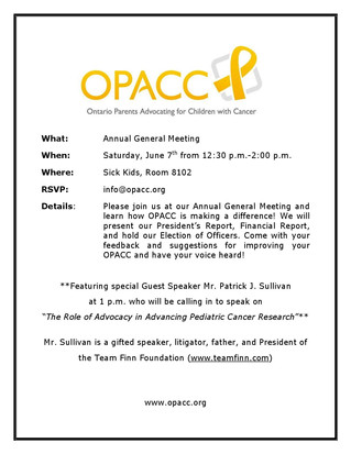 OPACC's 2014 Annual General Meeting details