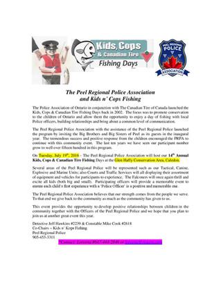 Kids & Cops Fishing event