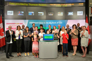 Young Cancer Survivors Ring in Childhood Cancer Awareness Month at Toronto Stock Exchange