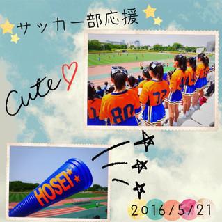 サッカー部応援 対日本体育大学戦