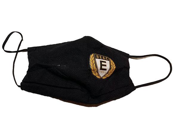 Fekete szövet szájmaszk - BEAC logóval