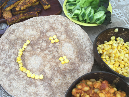 Mexican Vegan Bean Tortilla