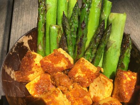 Roasted Asparagus and Tofu