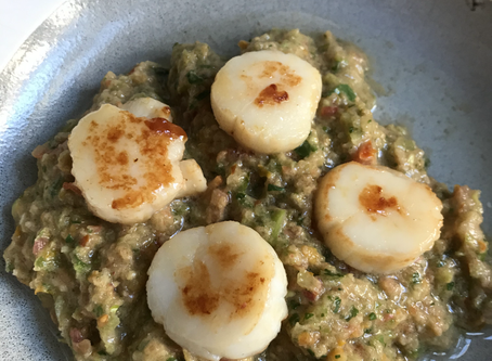 Ep 7 F&F Review - Scallops with Green Salsa Recipe!