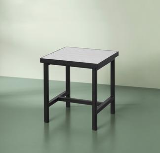 HERRINGBONE TILE SIDE TABLE