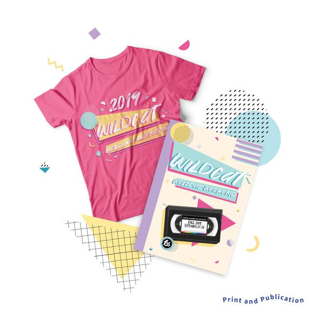 Wildcat Welcome Weekend Booklet and Tshirt 2019