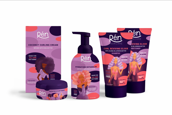 REN Haircare Packaging Design