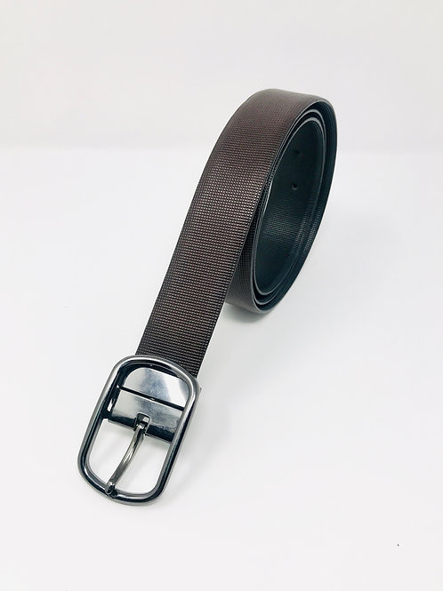 Men's Italian Leather Reversible dress Belt Black & Brown -01