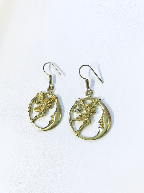 Brass Earrings Golden