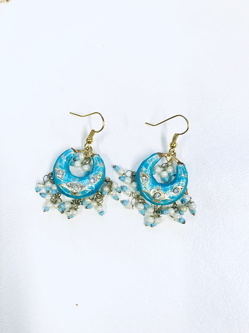 Traditional Lac Meenakari Chandbali Dangle