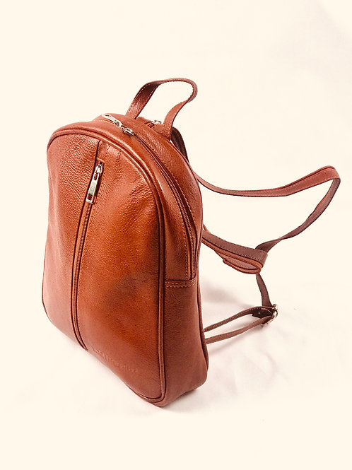 Polished Pebble Leather small Backpack