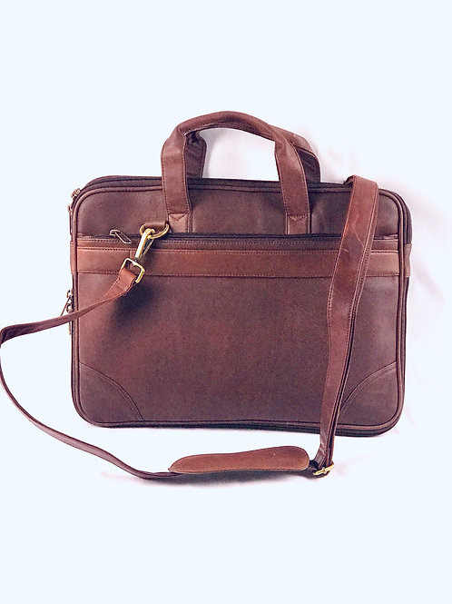 Camel Brown Leather Laptop bag