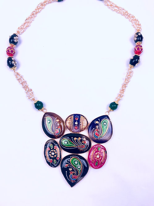 Handmade Multicored Tanjore Painting Pendant Necklace