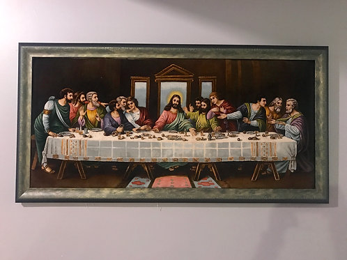 Last Supper Leonardo da Vinci  (Jesus) Wall Art Pictorial Hand Knotted Rug