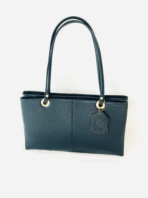 Polished Pebble Leather Small-Medium Tote