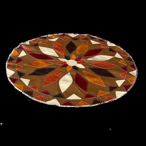 Handmade Genuine Cowhide Leather Rug