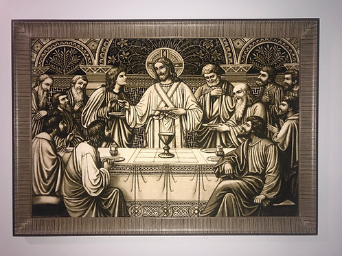 Last Supper (Jesus) Wall Art Pictorial Hand Knotted Rug