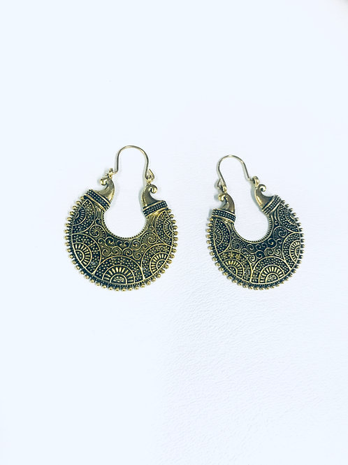 Antique German Silver Chandbali Earrings