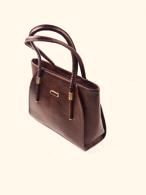 Polished pebble Brown Leather Tote