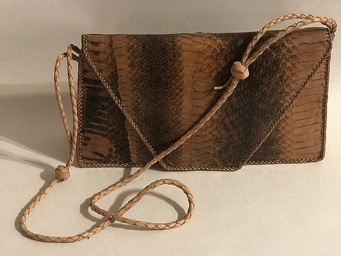 Handmade Genuine snake skin leather