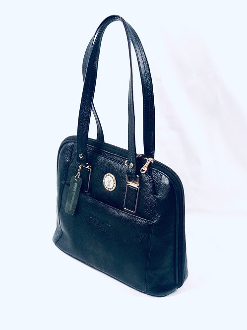 Polished Pebble Leather Tote