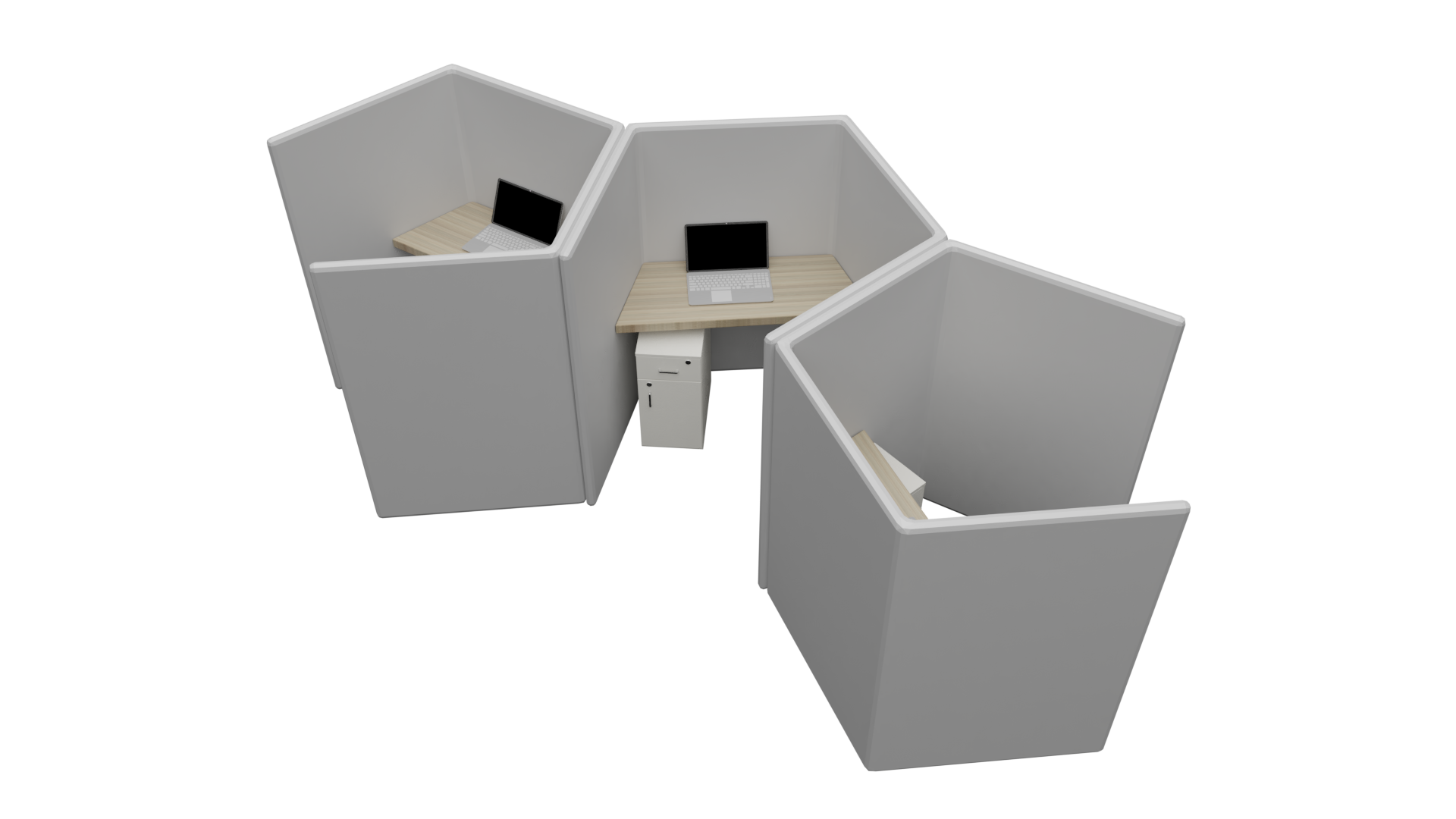 Semi enclosed pods