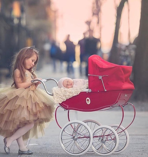 Коляска для кукол с сумкой(Красная)