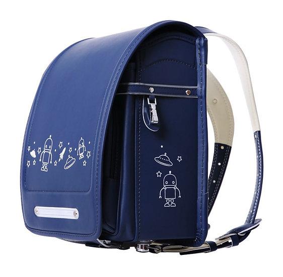 Школьный портфель (синий с НЛО)