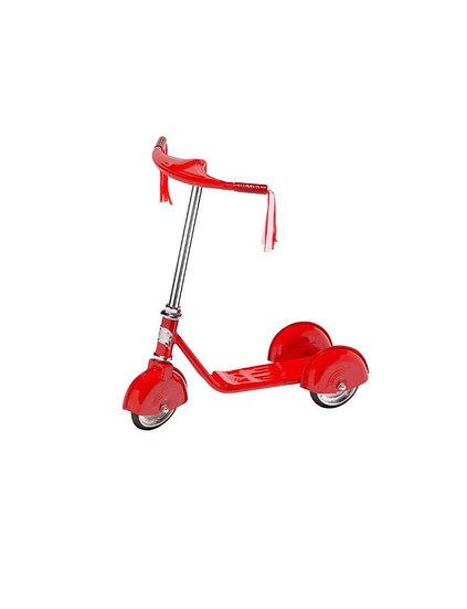 Трехколесный самокат в ретро стиле RED